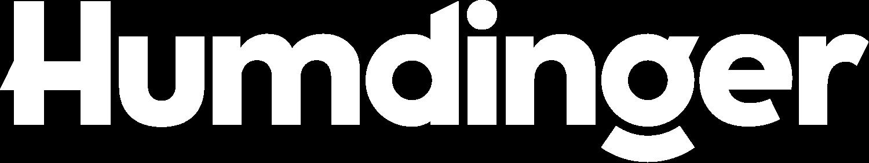 Humdinger Logo in white— Logo for Humdinger, a Minneapolis creative and design agency.