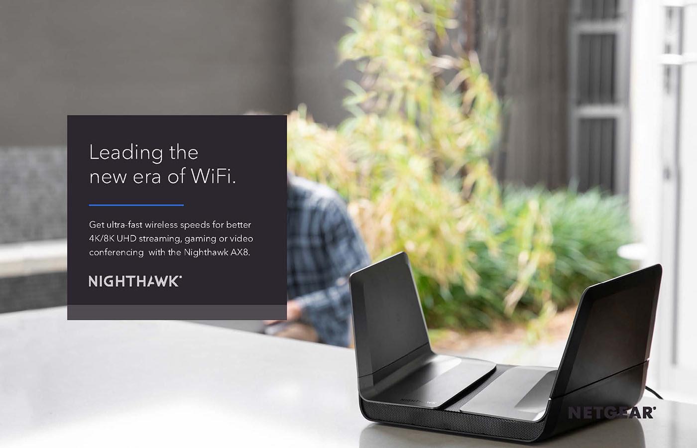 3D render of NETGEAR Nighthawk router in smart home