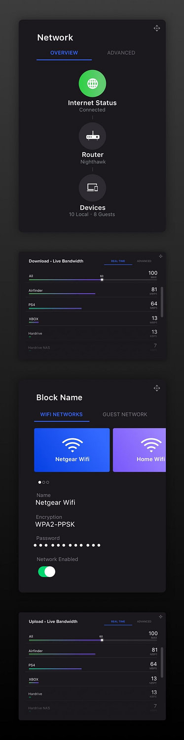 Image of Nighthawk mobile app design