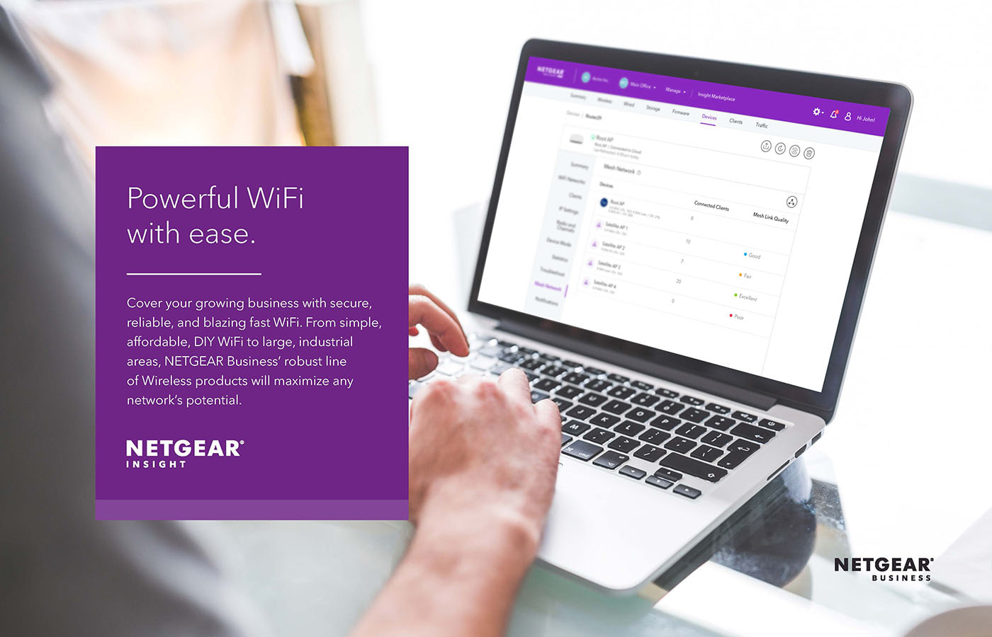 Image with NETGEAR Insight app design with description